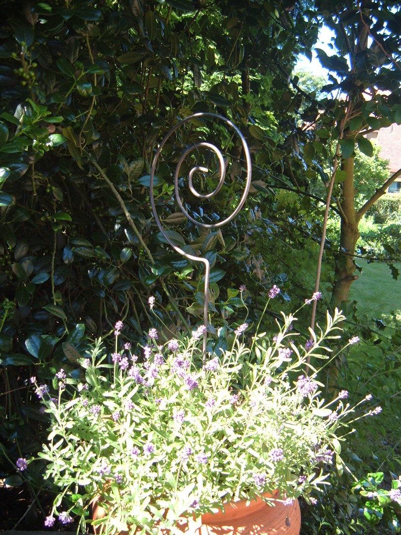 gartenstecker spirale blumenspirale pflanzenspirale aus. Black Bedroom Furniture Sets. Home Design Ideas