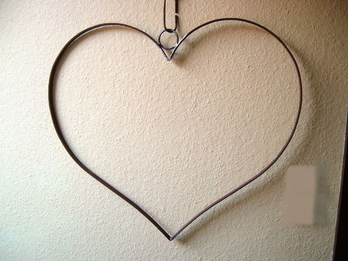 XL large heart with chain of precious metal handmade great decoration