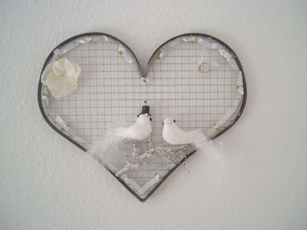 Hochzeit Herz Aus Metall Dekoriert Als Geschenk Einzelstück
