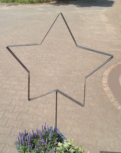 Star metal decoration XL for house and garden Handmade metal