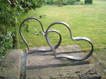 Heart made of metal handmade decoration for house and garden