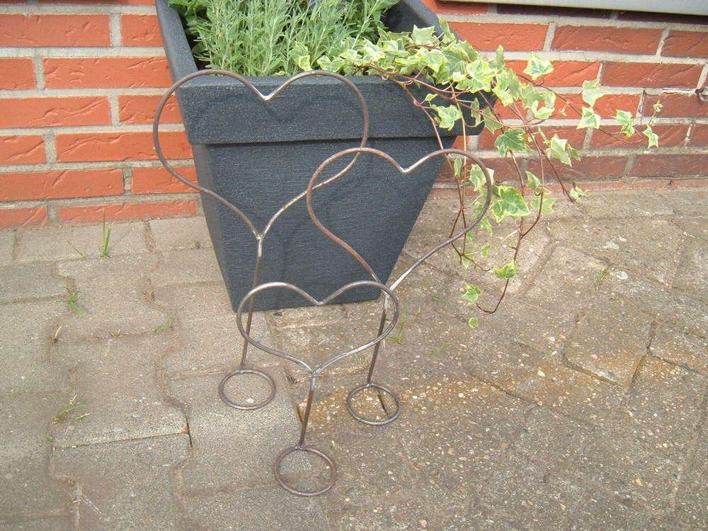 3er Set Aufsteller Herz Aus Metall Handgefertigt Love Schöne Dekoration Für  Haus Und Garten
