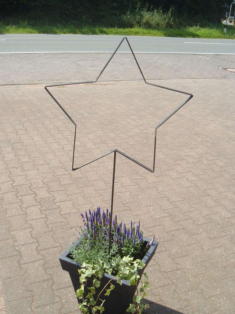 XL Stern Metallstern Dekoration Für Haus Und Garten Handarbeit Aus Metall