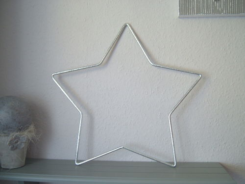 Star metal star zinc plated as wall decoration window decoration handwork