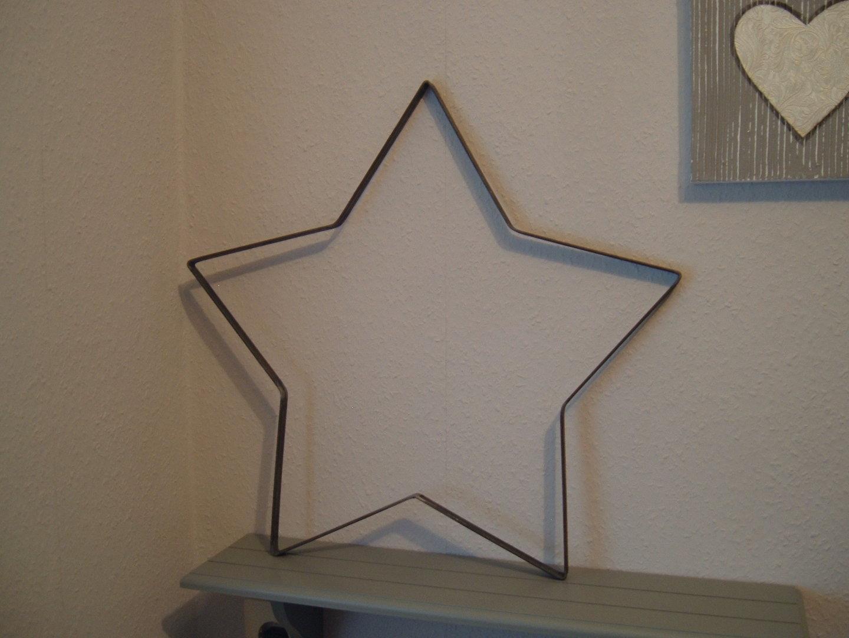 stern metallstern dekoration aus metall f r haus und. Black Bedroom Furniture Sets. Home Design Ideas