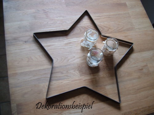 Star metal decoration metal decoration for home and garden handwork