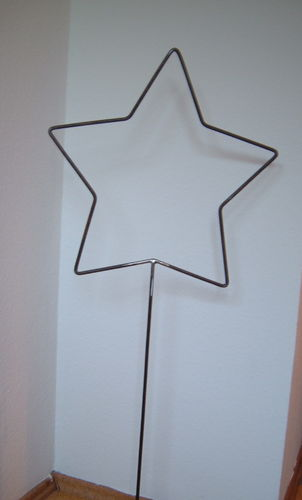 Star of metal - round iron - Christmas - house decoration - handwork