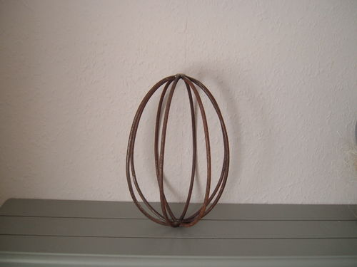 Easter egg made of metal for decoration - handwork - versatile