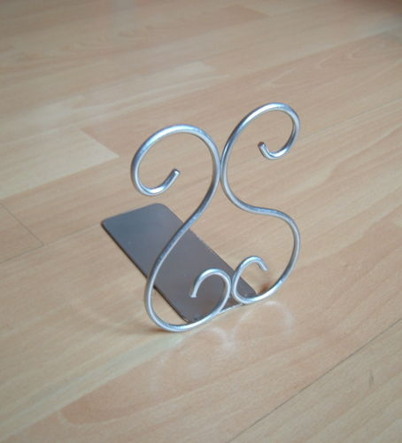 Metal letter holder for CD and DVD