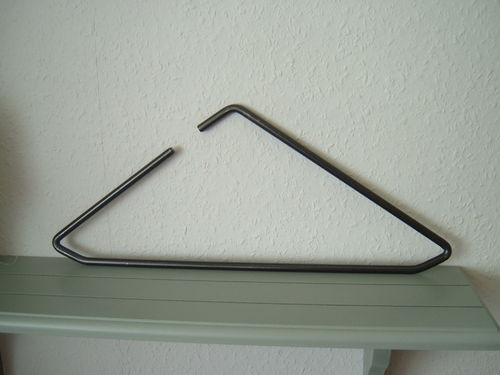 Hanger black modern design triangel