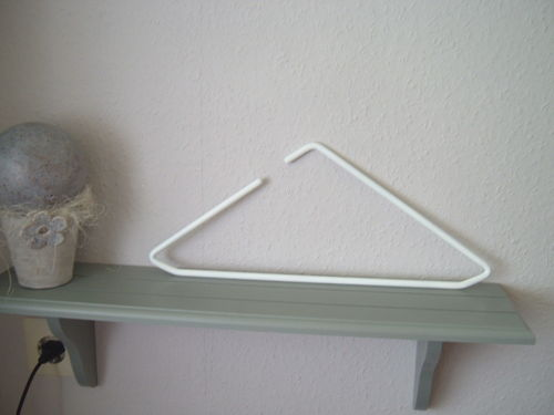Hanger white modern design triangle