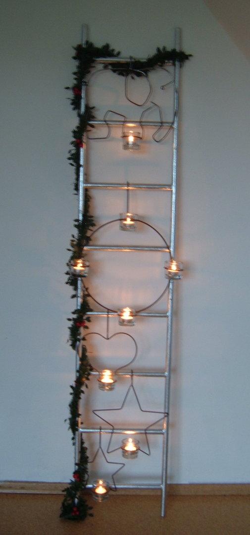 zubeh r f r dekoleiter weihnachtsdeko kerzenhalter. Black Bedroom Furniture Sets. Home Design Ideas
