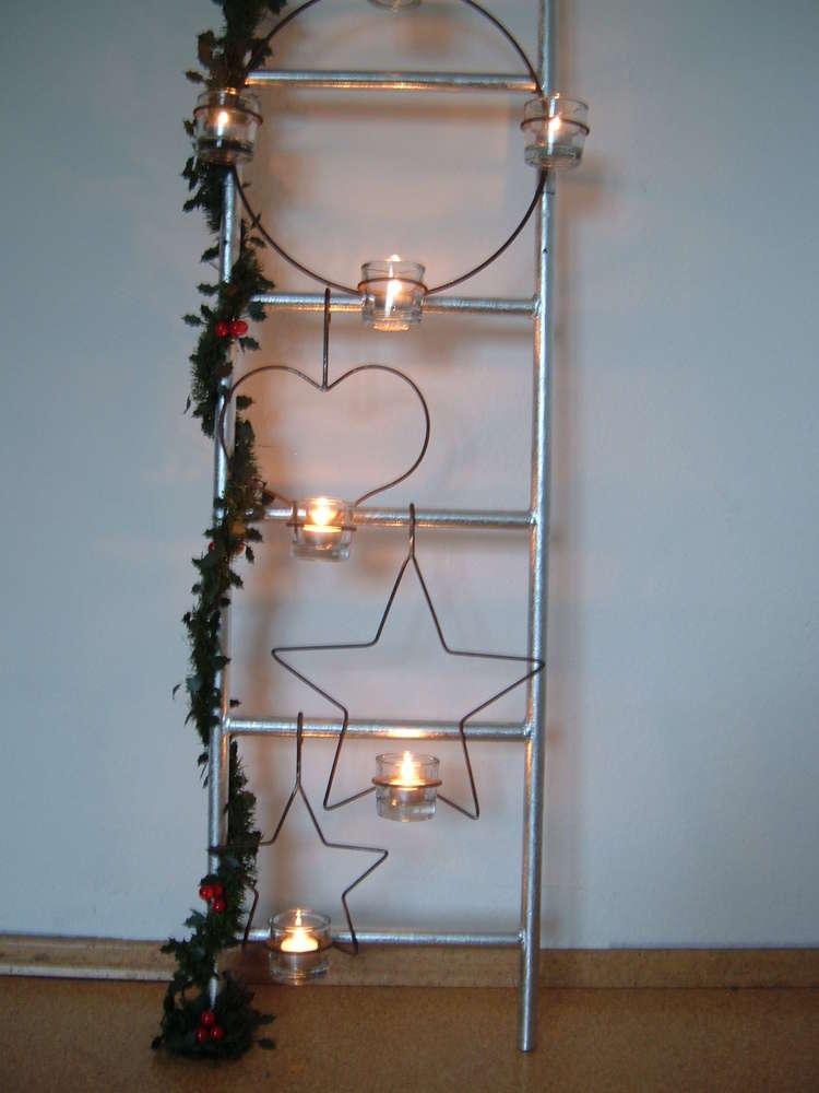 Weihnachtsdeko Aus Metall.Zubehör Für Dekoleiter Weihnachtsdeko Kerzenhalter Dekoration