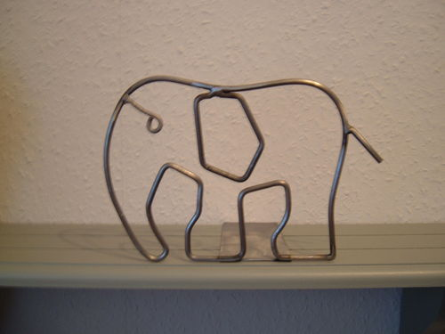 Bookend Elephant Bookend made of metal - holder also for CD and DVD