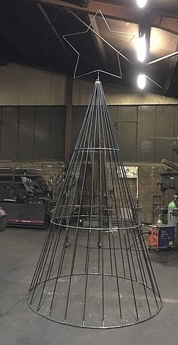 XXL pyramid of metal Christmas pyramid light cones Christmas decoration